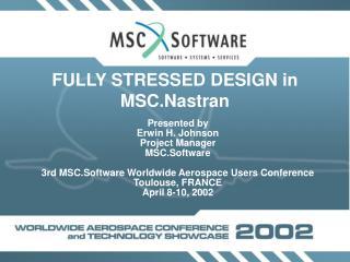 FULLY STRESSED DESIGN in MSC.Nastran