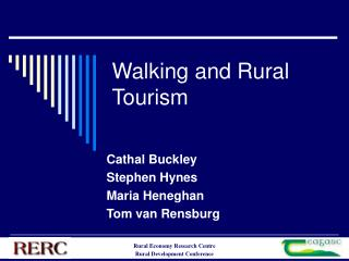 Walking and Rural Tourism