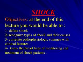 Shock is not a synonym to hypotension!