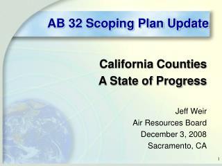 AB 32 Scoping Plan Update
