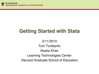 Getting Started with Stata