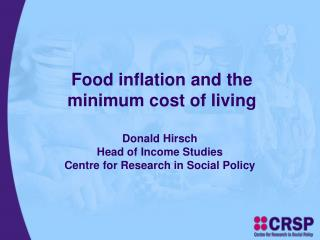 Food inflation and the minimum cost of living