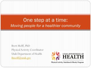 One step at a time:  Moving people for a healthier community