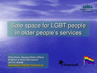 Safe space for LGBT people in older people's services