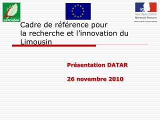 Cadre de référence pour la recherche et l'innovation du Limousin