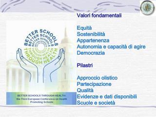 Valori fondamentali Equità Sostenibilità Appartenenza Autonomia e capacità di agire Democrazia