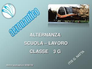 ALTERNANZA  SCUOLA – LAVORO CLASSE    3 G Anno scolastico 2008/09