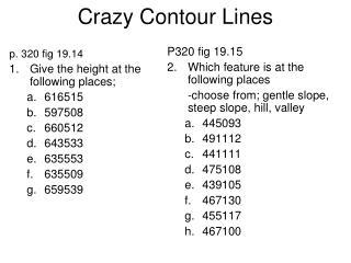 Crazy Contour Lines