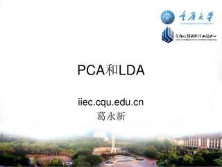 PCA 和 LDA