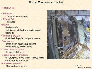 MuTr Mechanics Status