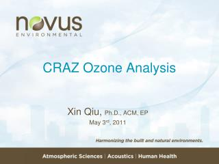 CRAZ Ozone Analysis