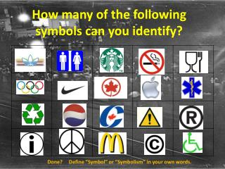 How many of the following symbols can you identify?