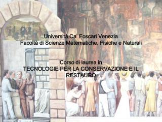 Università Ca' Foscari Venezia Facoltà di Scienze Matematiche, Fisiche e Naturali