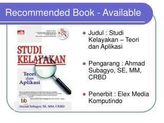 Recommended Book - Available