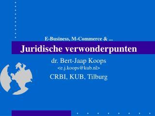 E-Business, M-Commerce & ... Juridische verwonderpunten