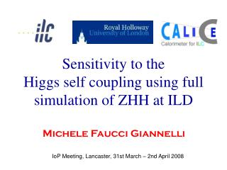 Sensitivity to the  Higgs self coupling using full simulation of ZHH at ILD