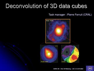 Deconvolution of 3D data cubes