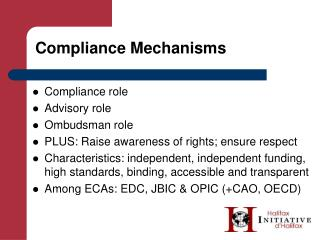 Compliance Mechanisms