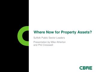 Where Now for Property Assets?