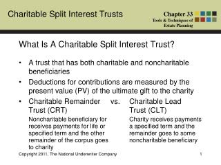 What Is A Charitable Split Interest Trust?