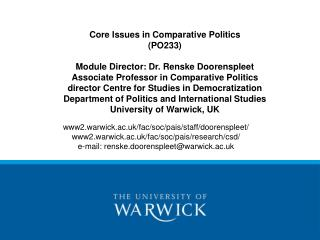 www2.warwick.ac.uk/fac/soc/pais/staff/doorenspleet/ www2.warwick.ac.uk/fac/soc/pais/research/csd/
