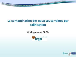 La contamination des eaux souterraines par salinisation
