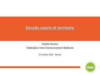 Circuits courts et territoire