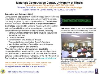 Materials Computation Center, University of Illinois