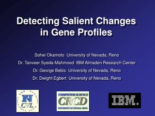 Detecting Salient Changes in Gene Profiles