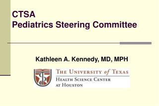 CTSA Pediatrics Steering Committee