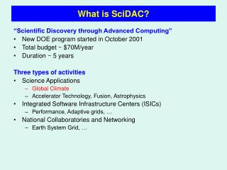 What is SciDAC?