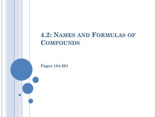 4.2: Names and Formulas of Compounds