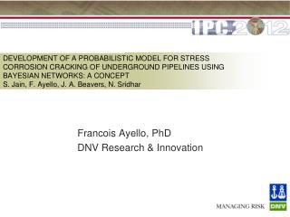 Francois Ayello, PhD DNV Research & Innovation