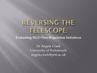 Reversing the telescope: