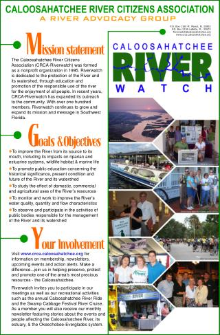 CALOOSAHATCHEE RIVER CITIZENS ASSOCIATION