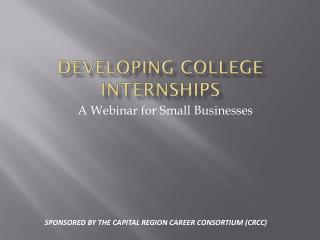 Developing College Internships