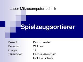 Labor Mikrocomputertechnik