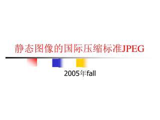 静态图像的国际压缩标准 JPEG