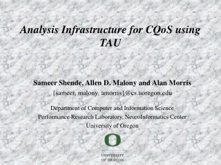 Analysis Infrastructure for CQoS using TAU
