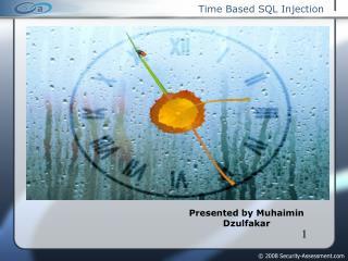 Time Based SQL Injection