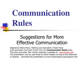 Communication Rules