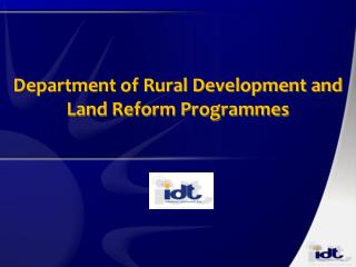 Department of Rural Development and Land Reform Programmes