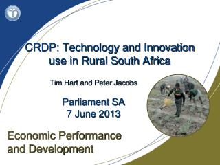 CRDP: Technology and Innovation use in Rural South Africa