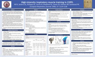 High-intensity inspiratory muscle training in COPD.