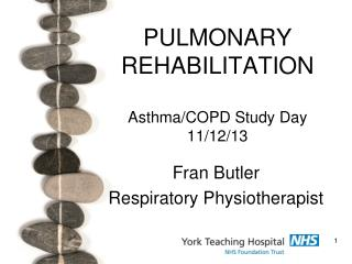 PULMONARY REHABILITATION Asthma/COPD Study Day 11/12/13