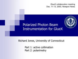 Polarized Photon Beam Instrumentation for GlueX