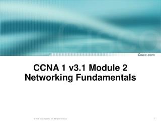 CCNA 1 v3.1 Module 2  Networking Fundamentals