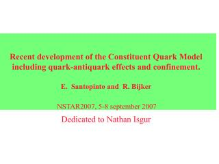 NSTAR2007, 5-8 september 2007