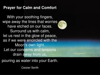 Prayer for Calm and Comfort