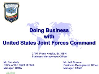 Doing Business  with  United States Joint Forces Command